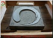 오금석 돌차판 (22cm*22cm*3cm) -밑면 널판지 미포함.