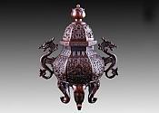 훈로熏炉:용이팔보병龙耳八宝瓶(수홍동水红铜) 재질材质:정연동精炼铜 중량重:2867g