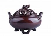 훈로熏炉:세한삼우지경절훈로岁寒三友之劲节薰炉(수홍동水红铜) 재질材质;정연동精炼铜 중량重:1694g