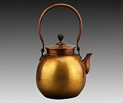 동호铜壶(장금臧金) 재질材质:정연동精炼铜 중량重:2365g