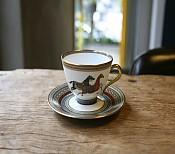 [HERMES_에르메스]영국식 찻잔 + 컵받침