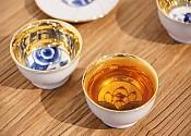 [贡福茶]手工青花金杯