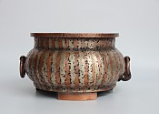 [贡福茶]全手工紫铜炉(紫铜白铜镶嵌)1100W