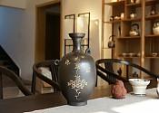 [贡福茶]全手工柴烧花器 宽:10cm,高:20cm