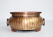[贡福茶]手工大号紫铜炉(黄铜+紫铜镶嵌款)