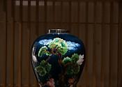 【贡福茶】纯银珐琅彩花器